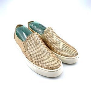 The Flexx  Woven Slip-on Gold Sneaker US 7.5